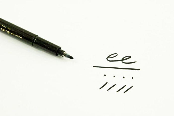 Stylos de calligraphie pointe médium