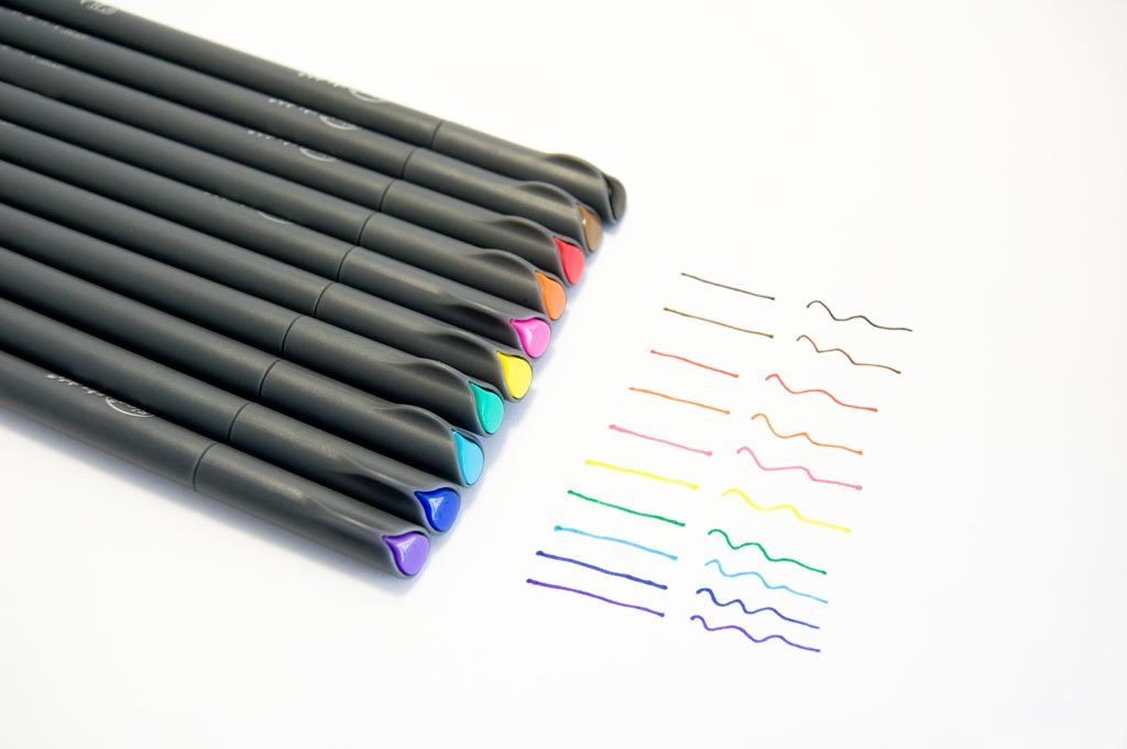 stylo pointe fine couleur