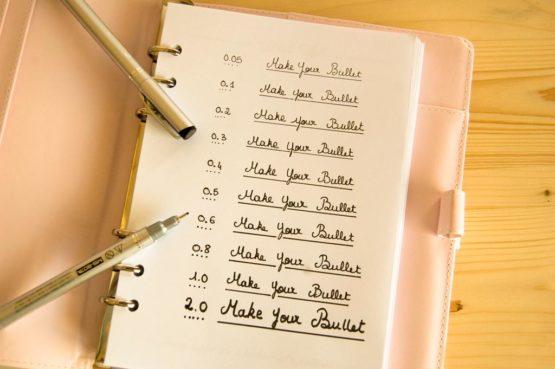 stylos pointes fines noirs test différentes épaisseurs