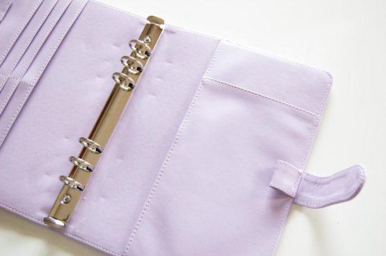 classeur cuir violet a5