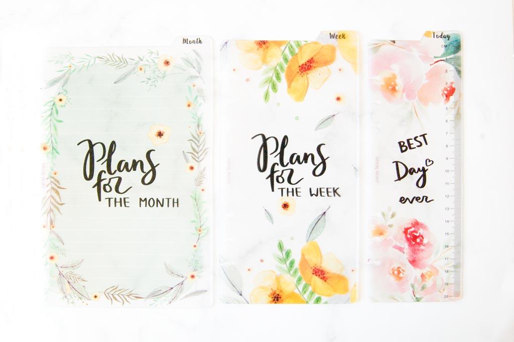 intercalaire fleur agenda bullet journal