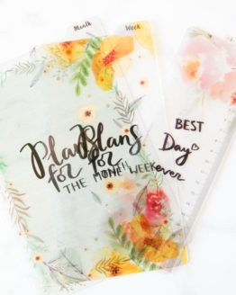 intercalaire fleur agenda bullet journal