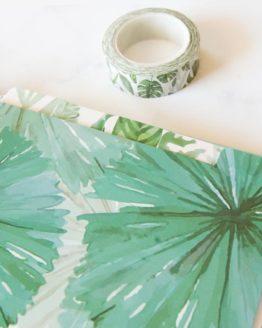 intercalaires tropicaux feuilles tropicales bullet journal