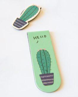 marque page cactus magnetique
