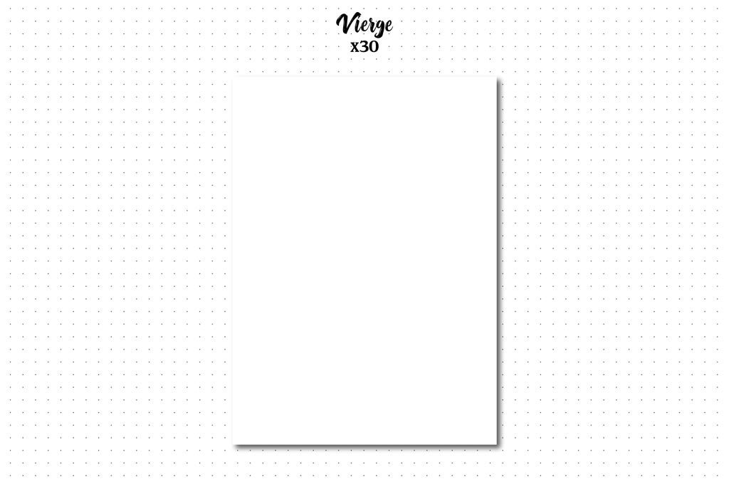 pack page vierge recharge bullet journal