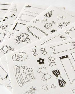 stickers banniere encart cadre