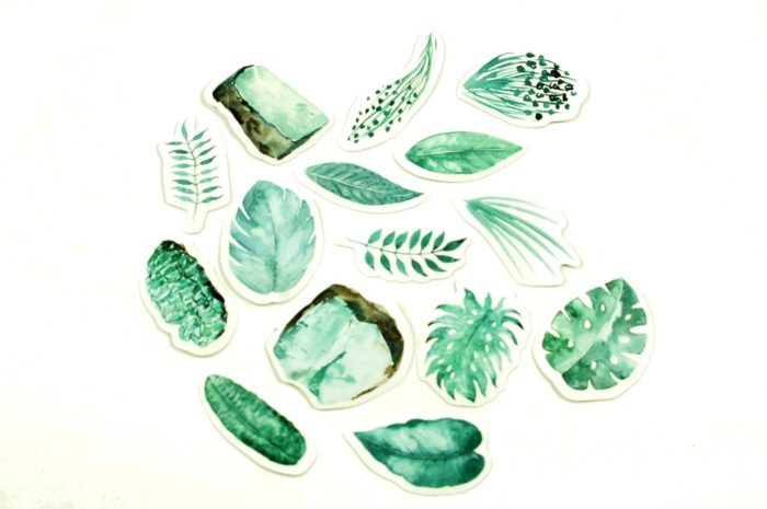 sticker feuille tropical nature