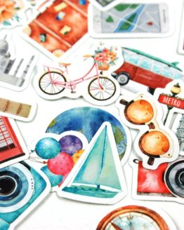 stickers monument monde ville voyage bullet journal