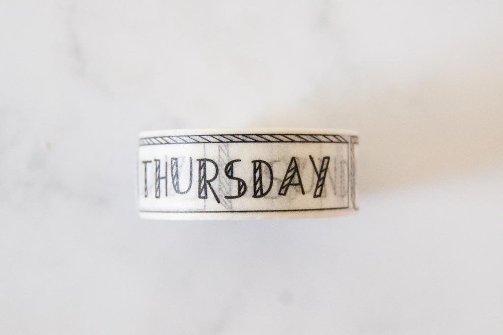 washi tape daily jours de la semaine