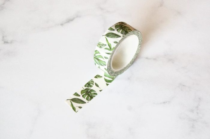 washi tape feuille tropical
