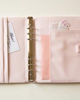 classeur rose bullet journal