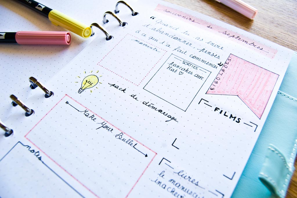collection bullet journal liste