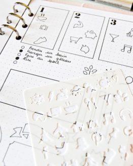 kit pochoirs icone reseaux sociaux