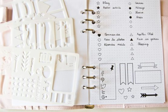 kit pochoirs checklist