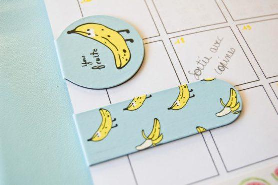 marque-page magnétique banane