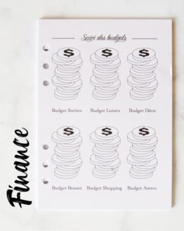 pack finance recharge bullet journal
