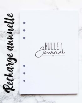 recharge annuelle pour bullet journal