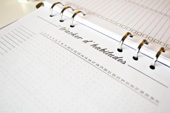 Tracker d'habitudes pour bullet journal