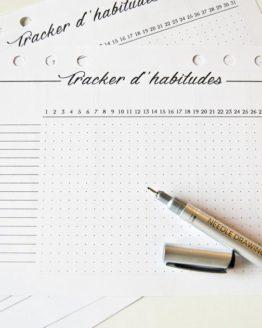 tracker habitude recharge bullet journal