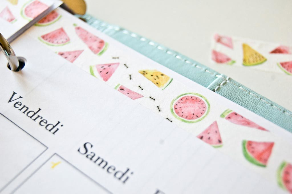 washi tape pasteque