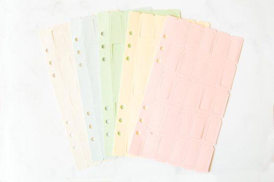 Marques pages personnalisables inscriptibles colorés