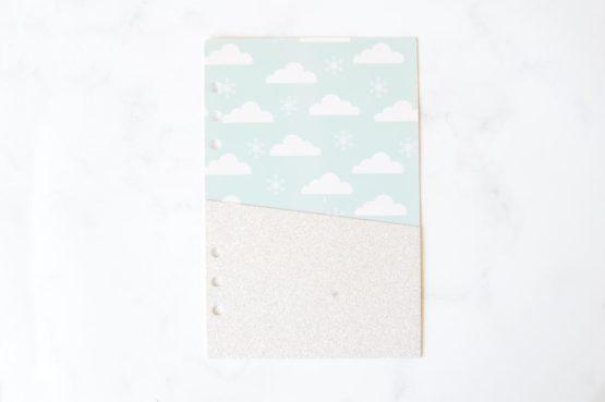 Pochette nuage pour classeur bullet journal