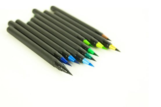 Pack de feutres brush pen bleu