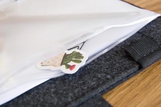 Pochette transparente pour classeur bullet journal