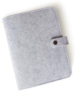Classeur en feutrine gris A5