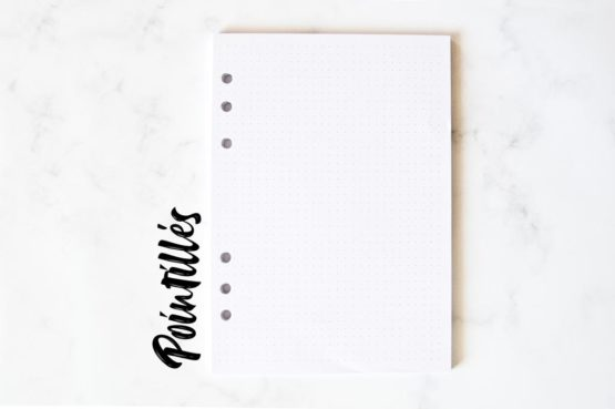 pack page pointilles recharge bullet journal