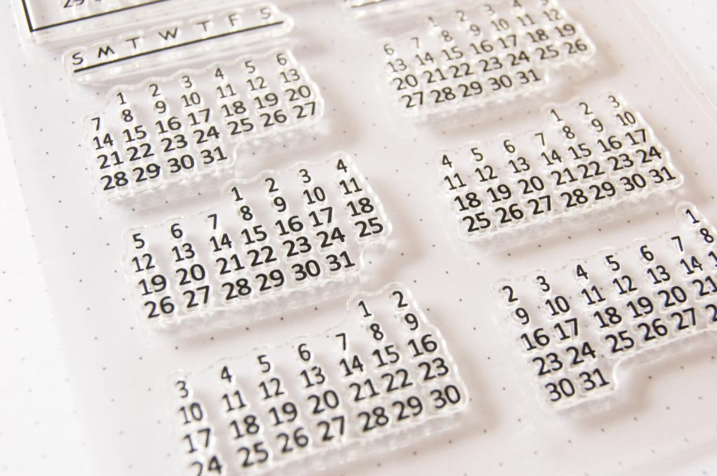 Clear stamp Calendrier
