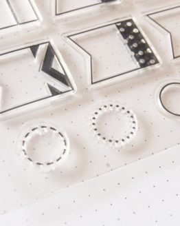 Clear stamp tampon post-it