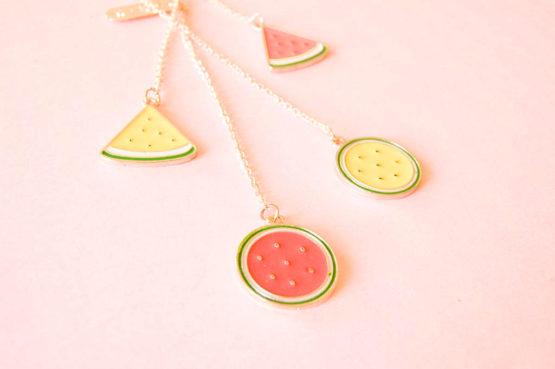 Signet pastèque et melon