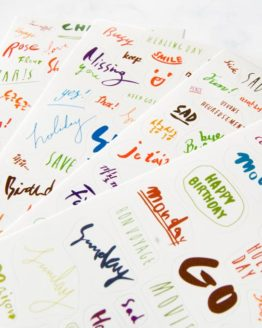 stickers calligraphie bullet journal